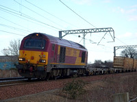 67007 at Prestonpans