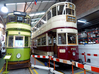 Wallasey 78 and Liverpool 762 at Wirral Tramsport Museum
