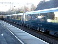 Mark 5 Sleeper coaches at Uddingston