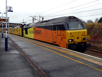 67023 tnt 67027 at Carstairs