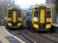 158782 and 158720 at Dalmeny