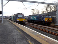 68016 and 57303 at Carstairs