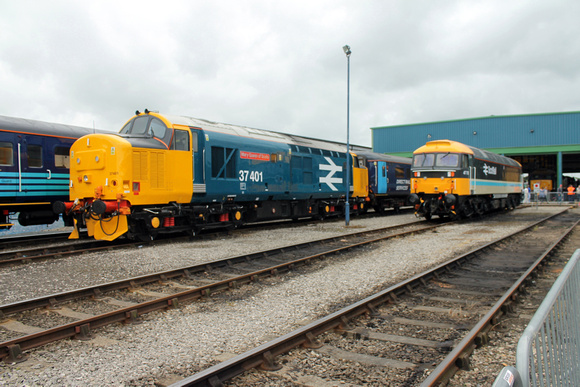 37401 and 47712 at Carlisle Kingmoor