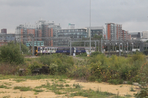 An unidentified Class 150 approaching Engine Shed Junction, Leeds 13.9.14
