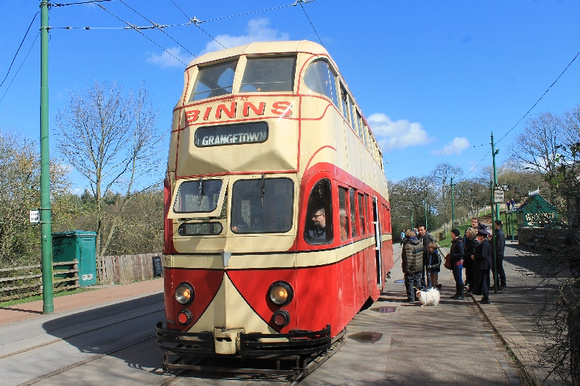 Sunderland 101 (Ex Blackpool Balloon 703) at Beamish