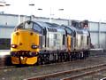 37605+37601 at Kilmarnock
