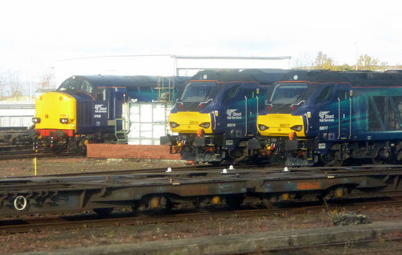 37038, 68016 and 68017 at Motherwell