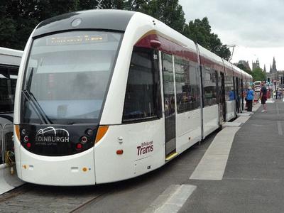Tram 252 on display in Princes Street